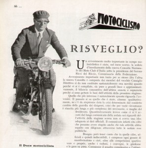 133. Mussolini the motorcycle pilot, 1931