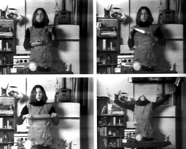 03 - Martha Rosler, Semiotics of the Kitchen, 1975. Video (black and white, sound), 6-09 min